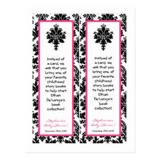 Damasco del negro de 2 de libro rosas fuertes de l tarjetas postales