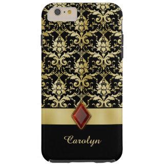 Damasco del oro de la joya del Viejo Mundo Funda De iPhone 6 Plus Tough