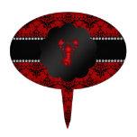 Damasco del rojo de la langosta figura para tarta