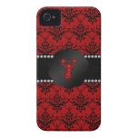 Damasco del rojo de la langosta iPhone 4 protectores