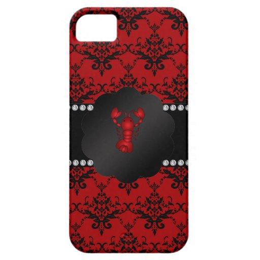 Damasco del rojo de la langosta iPhone 5 Case-Mate carcasas