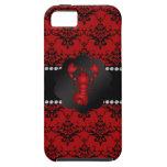 Damasco del rojo de la langosta iPhone 5 Case-Mate protectores