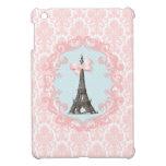 Damasco del rosa del vintage de París iPad Mini Cárcasa