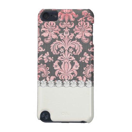damasco del rosa del vintage del inricate en diseñ funda para iPod touch 5G