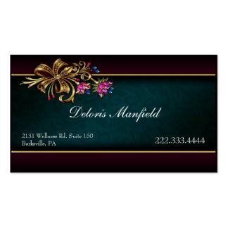 Damasco del trullo y tarjeta de visita románticos