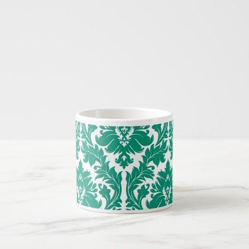 damasco del verde esmeralda taza de espresso
