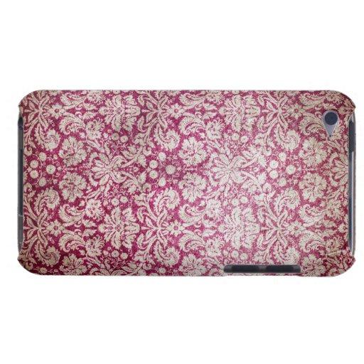 Damasco del vintage de Borgoña iPod Touch Case-Mate Cobertura