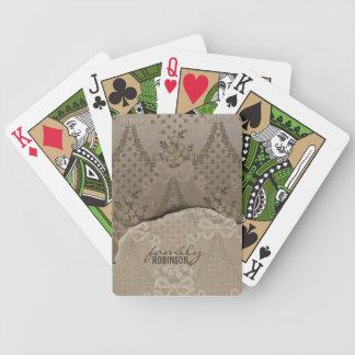 Damasco elegante baraja cartas de poker