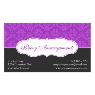 Damasco elegante de la fractura - púrpura plantilla de tarjeta de visita
