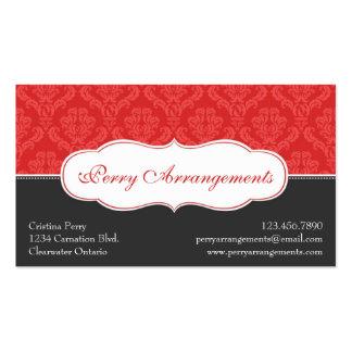Damasco elegante de la fractura - rojo plantilla de tarjeta personal