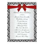Damasco elegante de la invitación del boda con el