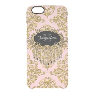 Damasco elegante del falso del oro vintage funda clearly™ deflector para iPhone 6 de uncommon