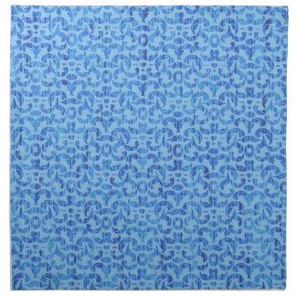 Damasco elegante del mar profundo del azul de océa servilleta de papel