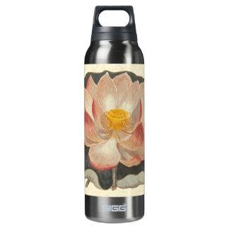 Damasco elegante del melocotón del flor de Lotus