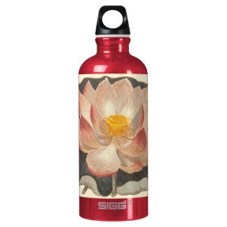 Damasco elegante del melocotón del flor de Lotus Botella De Agua