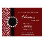 Damasco elegante del navidad invitación
