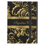 Damasco elegante del negro del oro del caso de mod