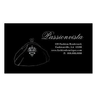 Damasco elegante elegante del negro de la plata de tarjetas personales