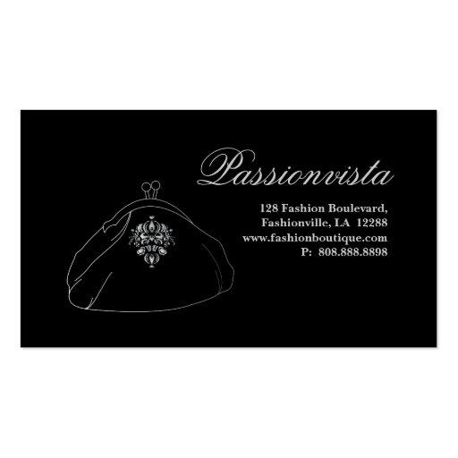 Damasco elegante elegante del negro de la plata de tarjetas de visita