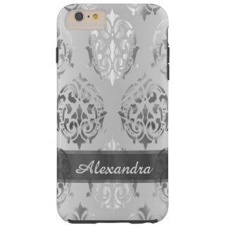 Damasco elegante elegante personalizado de los funda resistente iPhone 6 plus