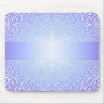 Damasco elegante Mousepad del invierno azul de luj Alfombrilla De Raton