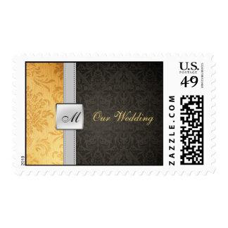 Damasco elegante nuestro franqueo del boda de Wedd
