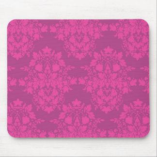 damasco en cojín de ratón de los rosas tapete de raton
