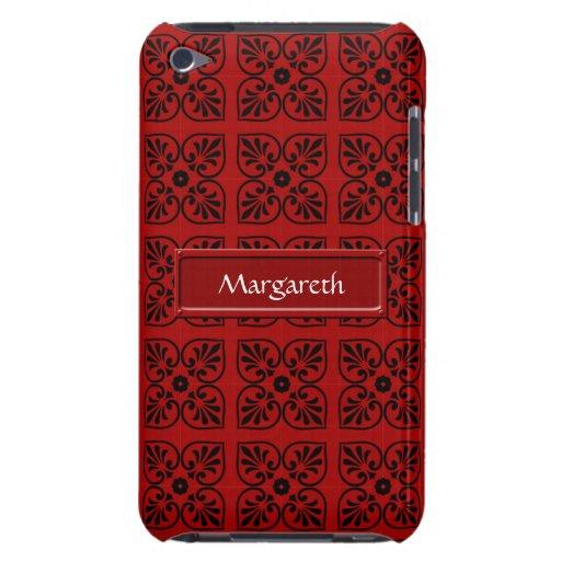 Damasco en rojo oscuro iPod touch cobertura