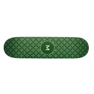 Damasco en verde oscuro tablas de patinar
