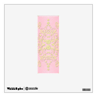 Damasco femenino de lujo floral del rosa y del ama vinilo adhesivo