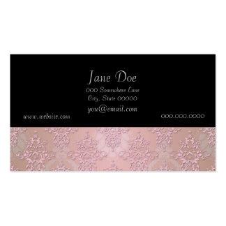 Damasco femenino del rosa del soplo de polvo tarjetas de visita