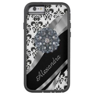 Damasco femenino elegante personalizado del funda de iPhone 6 tough xtreme