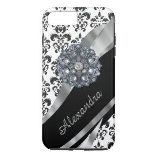 Damasco femenino elegante personalizado del funda iPhone 7 plus
