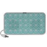 Damasco floral azul del trullo laptop altavoces