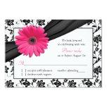 Damasco floral blanco del negro rosado de la comunicado personalizado