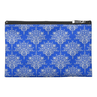 Damasco floral brillante del azul de cobalto y bla
