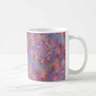 Damasco floral de los fuegos artificiales tazas de café