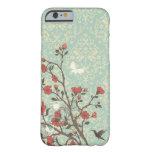 Damasco floral de los remolinos del vintage + caso funda de iPhone 6 barely there