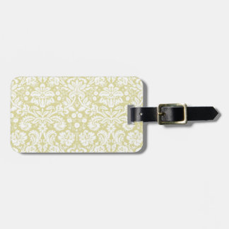Damasco floral de lujo del oro etiquetas de maletas