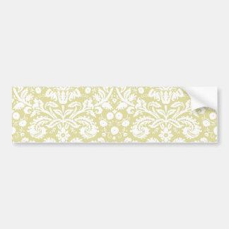 Damasco floral de lujo del oro pegatina para auto