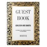 Damasco floral de oro del Guestbook el | del boda Notebook