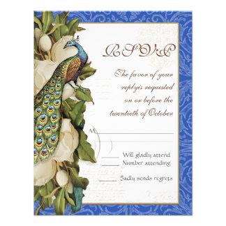 Damasco floral del remolino de la magnolia del pav comunicado personal