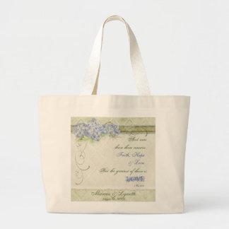 Damasco floral del remolino del Hydrangea azul del Bolsas
