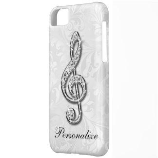 Damasco floral personalizado de la nota de la carcasa para iPhone 5C