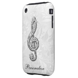 Damasco floral personalizado de la nota de la funda though para iPhone 3