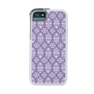 Damasco floral púrpura del vintage