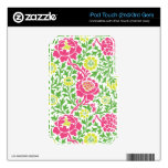 Damasco floral retro iPod touch 3G skins