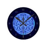 Damasco florentino del vintage (azul) reloj
