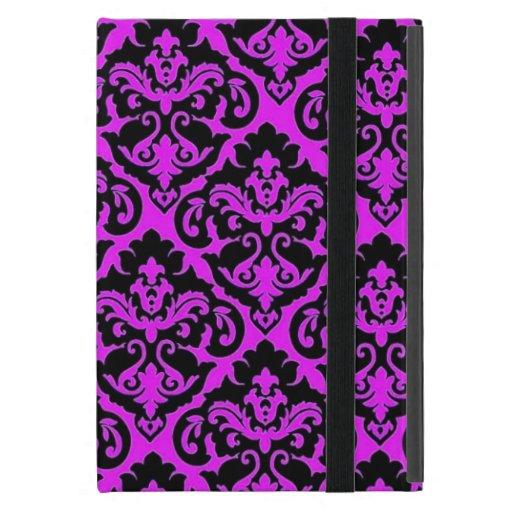 Damasco francés púrpura iPad mini funda