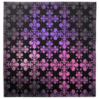 Damasco gótico 1 de la flor de lis de la elegancia servilleta imprimida